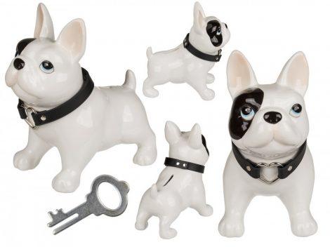 Kutya alakú kerámia persely