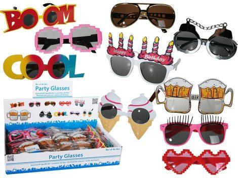 Party napszemüveg, többféle