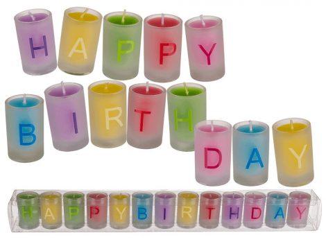 Happy Birthday gyertyakészlet 3x5cm