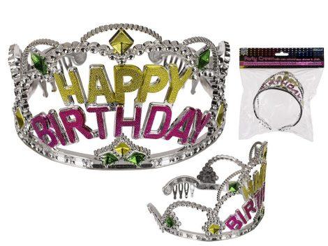 Születésnapi party Tiara Happy Birthday felirattal