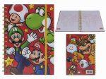 Super Mario Spirál füzet vonalas A5
