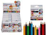Mini színes ceruza 12 db-os