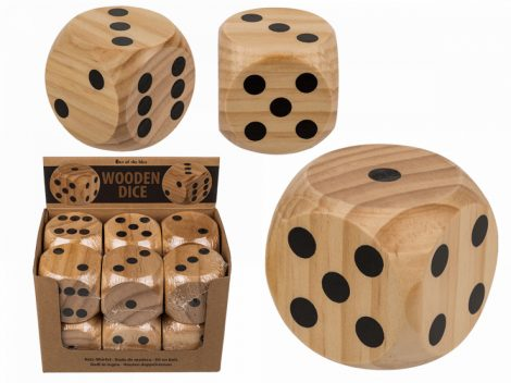 Fa dobókocka nagy méretű 6,1x6,1cm