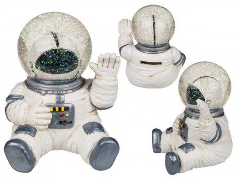 Űrhajós persely hógömb fejjel