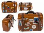 Kerámia persely bőrönd formájú 15x6.3x14x6 cm