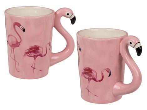 Kerámiabögre Flamingó