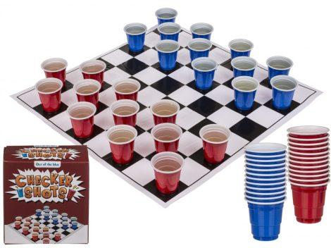 Partyjáték Dáma poharakkal