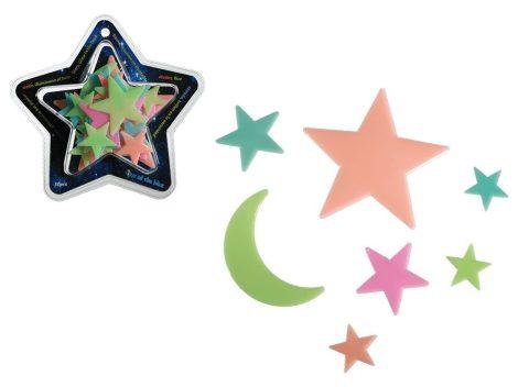 Fluoreszkáló csillagok 30 db-os készlet szobadekoráció
