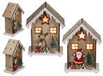 Karácsonyi fa ház dísz ledes