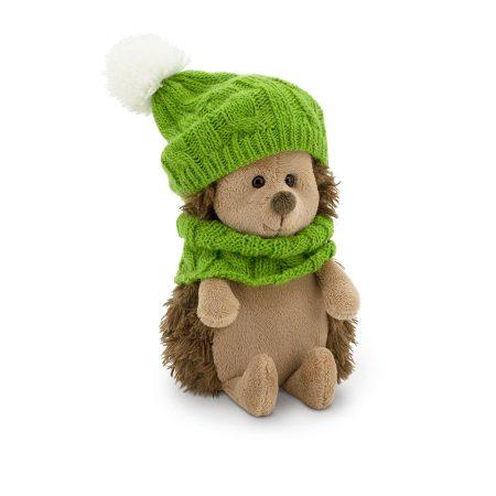 Plüss Fluffy a sün zöld őszi szettben 15cm Orange Toys