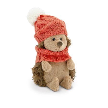 Plüss Fluffy a sün piros őszi szettben 15cm Orange Toys