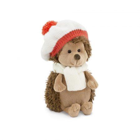 Plüss Fluffy a sün piros-fehér sapkában 20cm Orange Toys