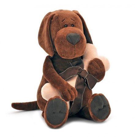 Plüss Cookie a kutya csonttal Orange Toys  doboz házzal
