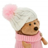Orange Toys plüss nagykereskedés - Plüss Fluffy a sün rózsaszín-fehér sapkában 15cm