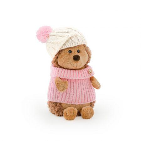 Orange Toys plüss nagykereskedés - Plüss Fluffy a sün rózsaszín-fehér sapkában 20cm