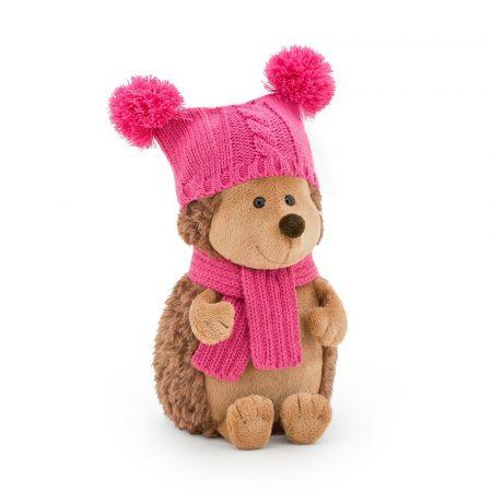 Orange Toys plüss nagykereskedés - Plüss Fluffy a sün dupla pomponos kalapban 15cm Orange Toys