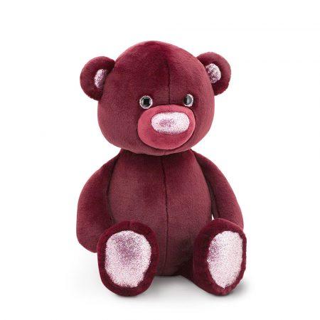 Fluffy a burgundy színű plüss maci 22 cm Orange Toys