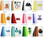 Quilling színes papír csíkok Multi Color 100 db 5mm