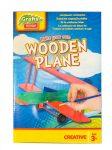 DIY Fa játék repülő összeszerelhető, festhető makett festékkel, ecsettel