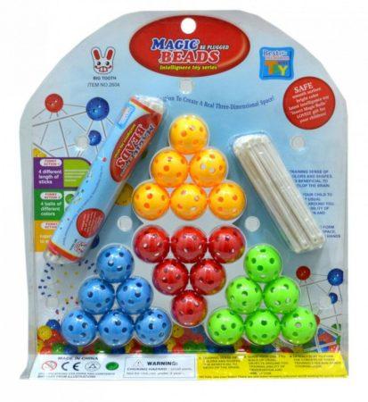 BABILON Magic Beads golyós pálcikás építő játék