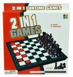 2 az 1-ben sakk és dáma játék