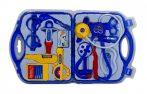 Doktoros játék felszerelés bőröndben kék
