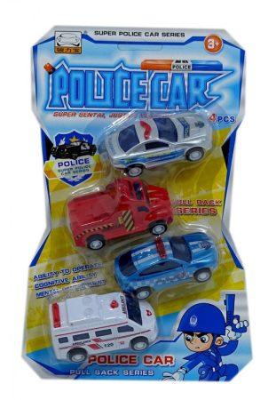 Játék autó készlet Rendőrautók, mentőautó tűzoltóautó