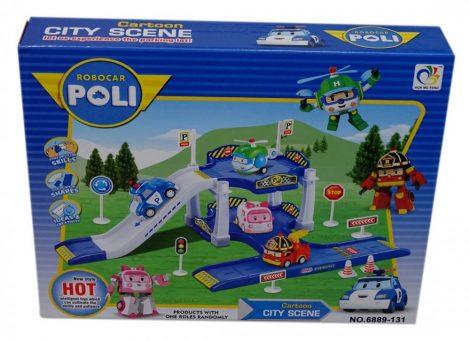 Játék garázs járművel - Police