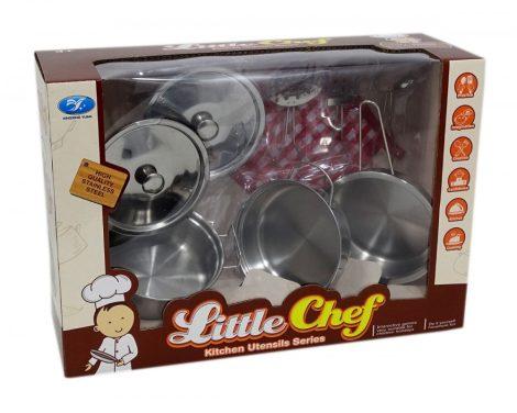 Játék konyhai készlet edényekkel, kiszedőkkel