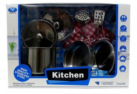 Játék konyhai fém edénykészlet