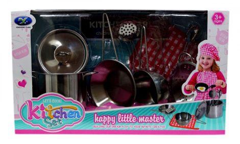 Játék konyhai fém edénykészlet lányoknak