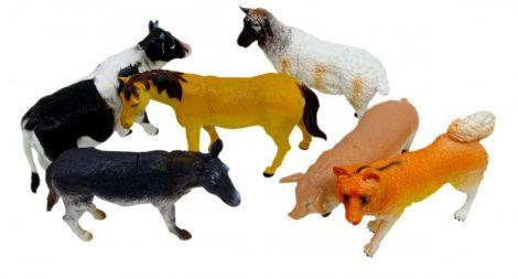 Játék háziállat disznó/ birka / kutya / tehén / ló / szamár
