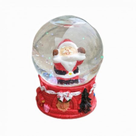 Karácsonyi havazós gömb 8 cm