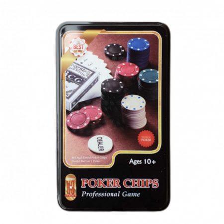 Póker szett 80 db-os fém dobozban