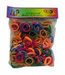 100 darabos hajgumi készlet színes csíkos