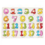 Fa fogantyús puzzle számok 0-20-ig