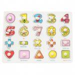 Fogantyús puzzle számok, alapműveletek, formák