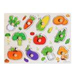 Fa foganytús puzzle zöldségek