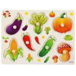 Fa foganytús puzzle kerti zöldségek