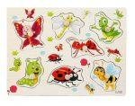 Fa puzzle fogantyús kirakó berakó bogarak és rovarok