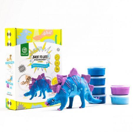 DIY 3D Fa Puzzle és gyurma szett Stegosaurus dinos játék