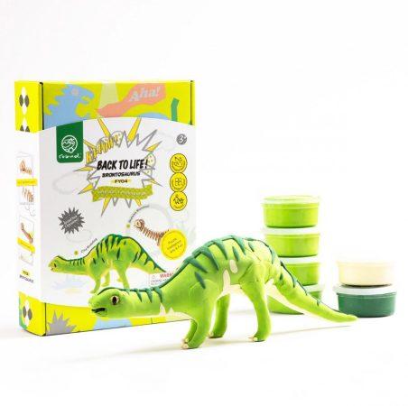 DIY 3D Fa Puzzle és gyurma szett Brontosaurus dinos játék