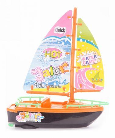 Műanyag játék vitorlás hajó