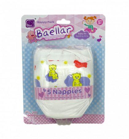 Bababpelenka 5db, játékbabákhoz