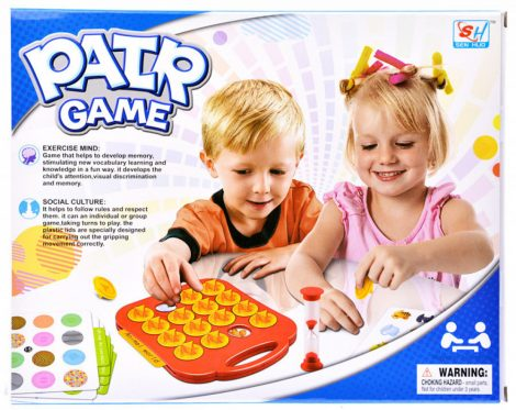 Memória játék homokórával