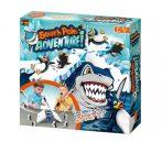 Egyensúlyozós, pingvin, cápa, jégtömbön, társasjáték, 26,5x26,5 cm dob.