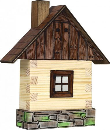 Építőjáték - Építős játékok - Fakunyhó falra