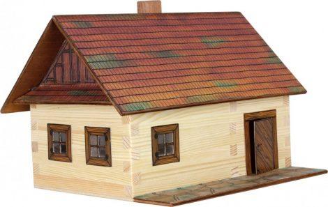 Építőjáték - Építős fa játék makett kunyhó