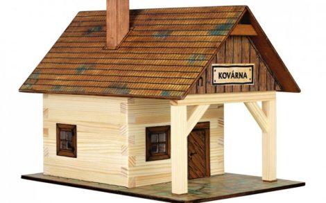 Építős játékok - Kovácsműhely makett fából