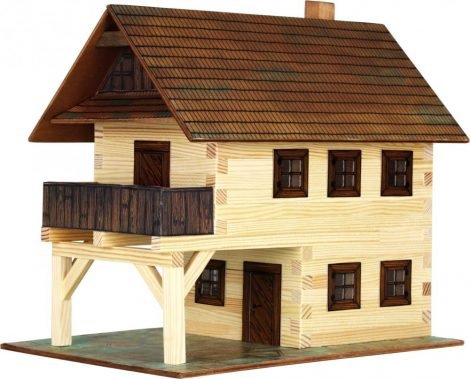 Barkácsolós játékok fiúknak- Ház építős játékok fából Városház makett